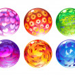 Balls set — Stock Photo
