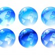 Globe icons - Stock Photo