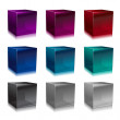 Glass cubes — Stock Photo