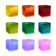 Stock Photo: Glass cubes