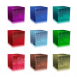 Glass cubes - Stock Photo