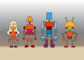 Robots family — Stock Photo