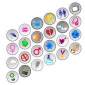 Botões de círculo — Fotografia Stock