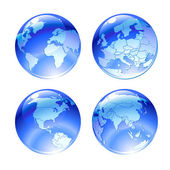 Globe icons — Stock Photo