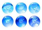 Globe ikoner — Stockfoto