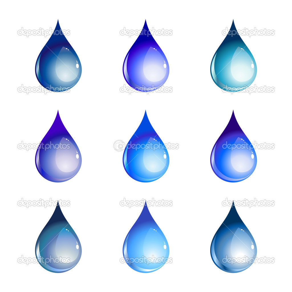 Illustration of the beautiful decoration water drops set. — Stock Photo #1162907