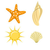 Summer icons — Stock Photo