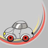 Little grey car — Stock Photo