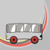 Küçük komik otobüs. — Stok fotoğraf