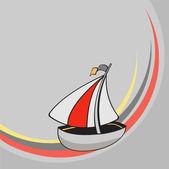 Little funny sailing ship — Stock Photo