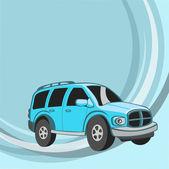 Funny blue car — Stock Photo