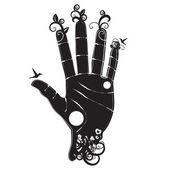 Human hand sihloette — Stock Photo