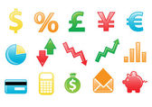 Financial icons — Stock Photo