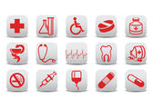 Medecine icons — Stock Photo