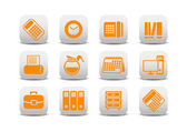 Office equipment icons — Stock Photo
