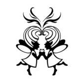 Two simmetric fairies — Stock Photo