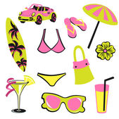 Summer items — Stock Photo