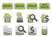 Real estate icons set — Stock Photo