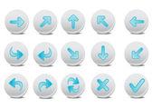 кнопки со стрелками — Стоковое фото