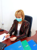 Flu at office — Stock Photo