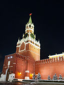 Spassky tower of the Moscow Kremlin. — Stock Photo