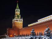 Spassky tower at night. — Stock Photo