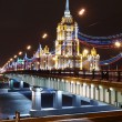 The new Arbat bridge and hotel Ukraine. — Photo