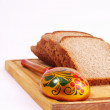 Stock Photo: Bread, spoon and board on white