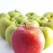 Stock Photo: Fresh apples on white background