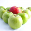 Fresh apples on a white background — Stock Photo