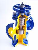 Breadboard model of the pipeline valve — Stock Photo