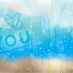 Rain_drops_love_bk — Stock Vector