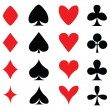 Colours for playing cards — Imagen vectorial