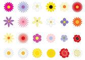 Flowers_basic — Stock Vector