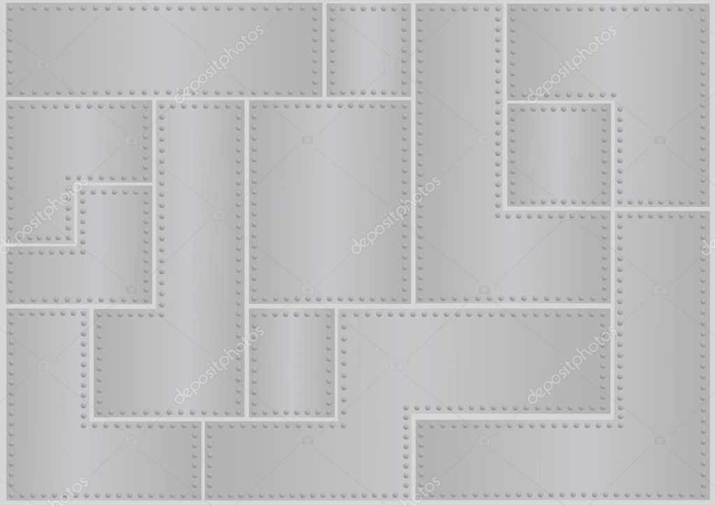 Vector background in metal rivets plate — Stock Vector #1110364