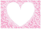 Pink_frame_heart — Vector de stock