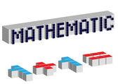 Mathematic cubes — Stock Vector