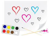 Drawing heart — Vector de stock