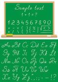 κιμωλία ένα σχολείο γραμματοσειράς — Διανυσματικό Αρχείο