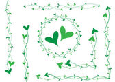 Green heart decoration — Stock vektor