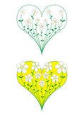 выращивание сердца цветов — Cтоковый вектор