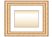 Wood_photo_framework — Stock Vector