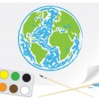 Vector de stock : Drawing green Earth