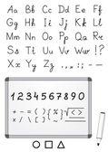 Marker font — Stock Vector