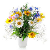 Fresh bouquet Isolated on white — Stock Photo