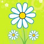 Beautiful chamomile — Stock Vector