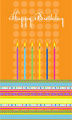 Birthday cake with colorful candles — Stock Vector
