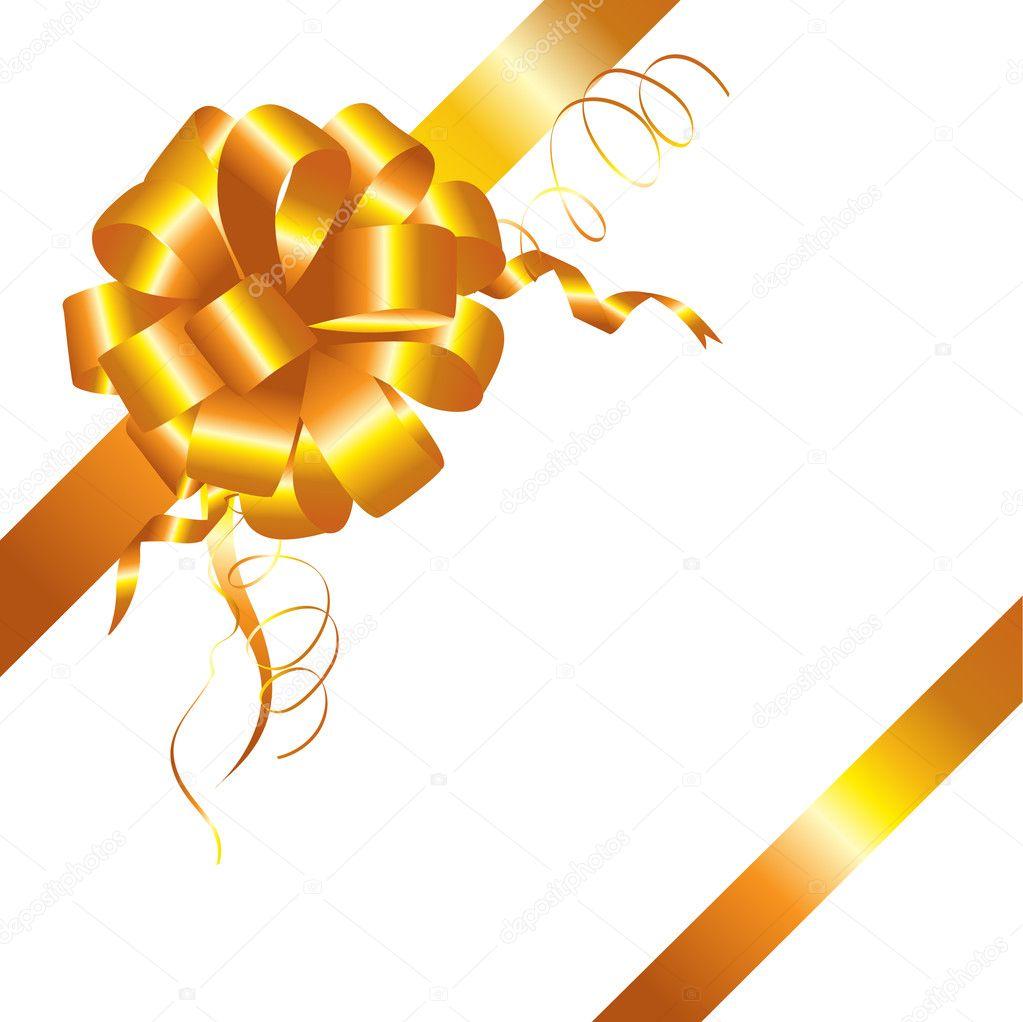 Gold ribbon banner transparent background clipart - Cinta Dorada Y Arco Aislado Vector De Stock 169 Rozaliya