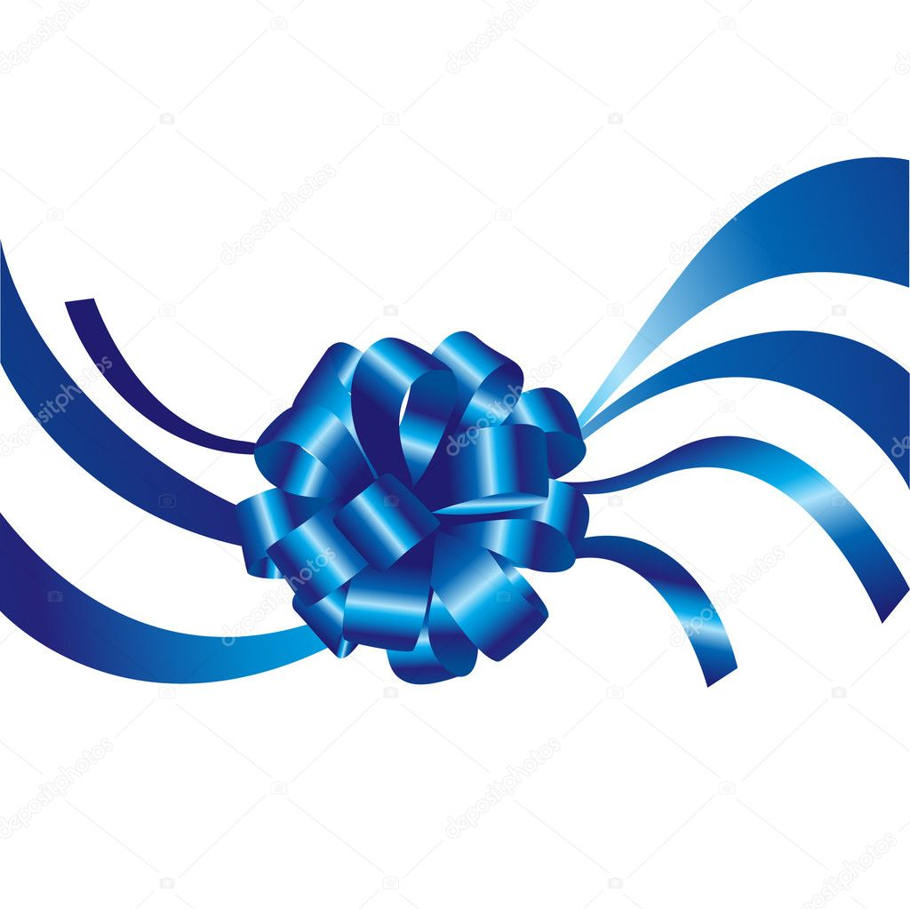 Blue Ribbons Background Blue Ribbon And Bow Isolated