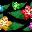 Six gems isolated on a black background - 图库照片